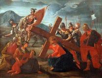 8vas estaciones de la cruz Imágenes de archivo libres de regalías