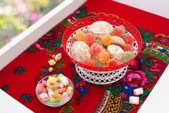 Vas med sötsaker Royaltyfria Bilder