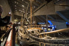 Vasa военного корабля, Стокгольм Стоковое Фото