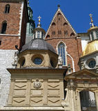 Vasa Dynasty Chapel & Wawel Cathedral Entrance Gate in Krakow, Poland royalty free stock photos