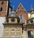 Vasa Dynasty Chapel & Wawel Cathedral Entrance Gate in Krakow, Poland Royalty Free Stock Photos