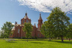 Vasa, Finland - ortodox kerk stock afbeelding