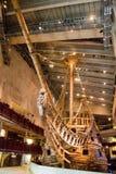 Vasa-historisches hölzernes Schiff Stockbilder