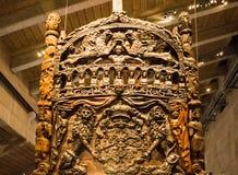 Vasa-historisches hölzernes Schiff lizenzfreie stockfotografie