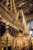 Vasa-historisches hölzernes Schiff Stockfotografie