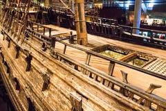 Vasa-historisches hölzernes Schiff lizenzfreie stockbilder