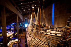 Vasa museum in Stockholm, Sweden. Famous ancient reconstructed vasa vessel in Stockholm, Sweden Royalty Free Stock Image