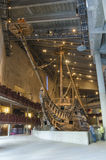 The Vasa Museum in Stockholm Sweden. The Vasa Museum displays the only almost fully intact 17th century ship that has ever been salvaged, the 64-gun warship Vasa Stock Photos