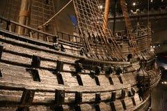 Vasa okrętu wojennego zakończenie dział dział zakończenie Stokholm zdjęcia royalty free