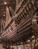Vasa Ship. The Royal Swedish Flagship - Vasa. Taken at the Vasa Museum, Stockholm. This is the only 17th century ship which is still intact Royalty Free Stock Photo