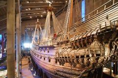 Vasa van het schip in Vasamuseet Stock Foto