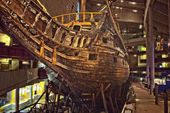 Vasa warship wreckage in Stockholm Royalty Free Stock Photography