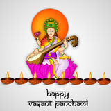 Vasant Panchami background. Illustration of elements for Vasant Panchami Royalty Free Stock Image