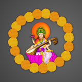 Vasant Panchami background. Illustration of elements for Vasant Panchami Stock Photo