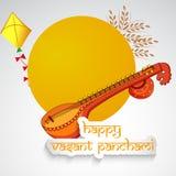 Vasant Panchami background. Illustration of elements for Vasant Panchami Stock Image