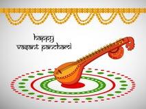 Vasant Panchami background. Illustration of elements for Vasant Panchami Royalty Free Stock Photos