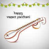 Vasant Panchami-Hintergrund Stockbild