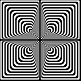 Vasarely optical effect Stock Photos