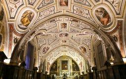 Vasari chapel in Sant�Anna dei Lombardi church, Naples, Italy Stock Images