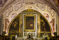 Vasari chapel in Sant'Anna dei Lombardi church, Naples, Italy Stock Photography