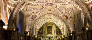 Vasari chapel in Sant'Anna dei Lombardi church, Naples, Italy Royalty Free Stock Photo