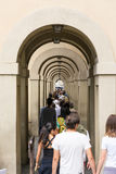 Vasari corridor Royalty Free Stock Photo