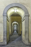 Vasari corridor in Florence.Italy. Travel Royalty Free Stock Photography