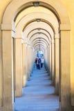 Vasari Corridor in Florence Stock Photo