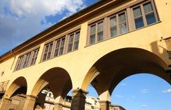 Vasari Corridor over old bridge in Florence Italy Royalty Free Stock Photos