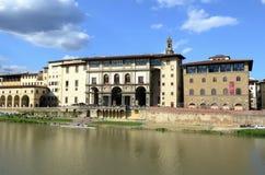 Vasari corridor - Uffizi galery Stock Photography