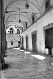 The Vasari Logge, Arezzo. Black and white photo Stock Image