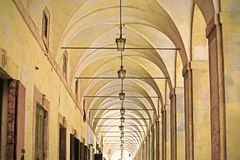 Vasari Loggia in Arezzo royalty free stock photography