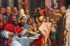 Vasari van Giorgio, diner van st Gregory Royalty-vrije Stock Afbeeldingen