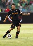Vasas vs. AS Roma (0:1) football game Stock Image