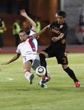 Vasas vs. AS Roma (0:1) football game Stock Photo