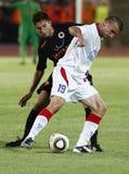 Vasas vs. AS Roma (0:1) football game Stock Photos