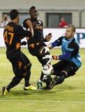 Vasas vs. AS Roma (0:1) football game Royalty Free Stock Photos