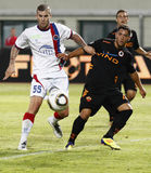Vasas vs. AS Roma (0:1) football game Stock Photos