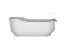 Vasca da bagno bianca Fotografia Stock