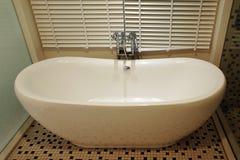 Vasca da bagno bianca Fotografie Stock