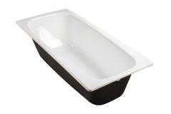 Vasca da bagno isolata su bianco Immagine Stock Libera da Diritti