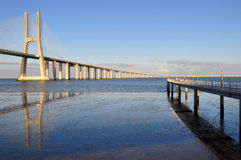 Vasca da Gama Bridge Royalty Free Stock Image
