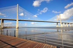 Vasca da Gama Bridge Stock Photo
