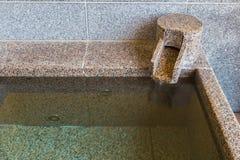 Vasca del marmo di Onsen Immagine Stock Libera da Diritti