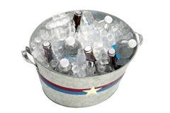 Vasca del metallo delle bevande Fotografia Stock Libera da Diritti