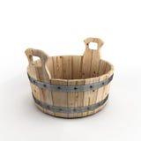 Vasca di legno per lavare Fotografie Stock Libere da Diritti