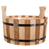 Vasca di legno per un bagno Immagine Stock
