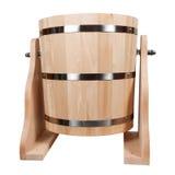Vasca di legno vuota per un bagno Fotografia Stock