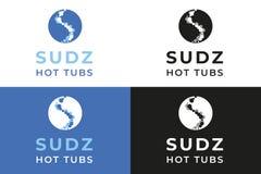 Vasche calde di Sudz immagine stock
