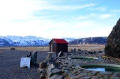 Vasche calde in Islanda Immagini Stock